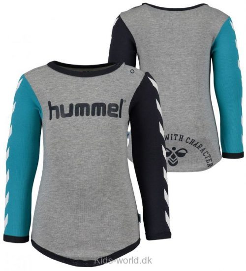 Hummel Body - L/Æ - Gråmeleret m. Sort/Turkis Vinkler