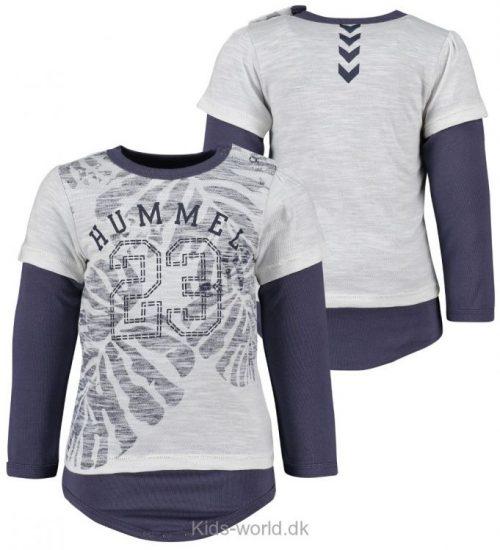 Hummel Body m. T-shirt - L/Æ - Bari - Hvidmeleret/Mørklilla m. 2