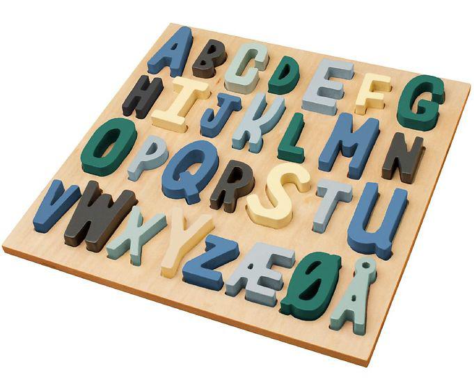 puslespil med alfabetet