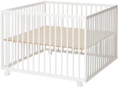 Kravlegård Comfort Hvid, Large 99 x 99 cm - Baby Dan