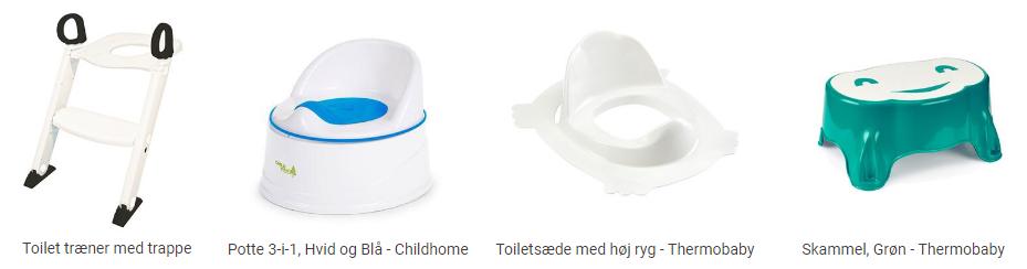 Tilbehør til toilettræning